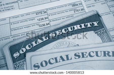 W2 tax form and Social Security cards