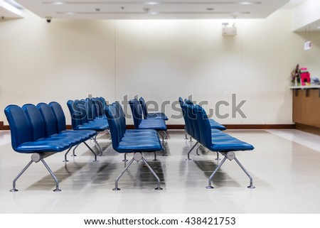 Waiting area seat at The Hospital Pharmacy Section