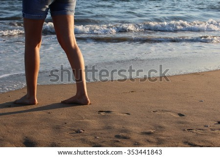 walk in beach