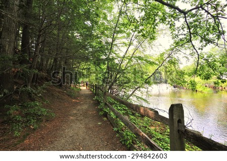 Walking trail in Sturbridge village, MA
