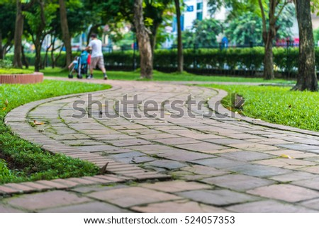 walkway in Green city park