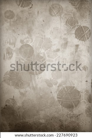 wall background with football screen dirt