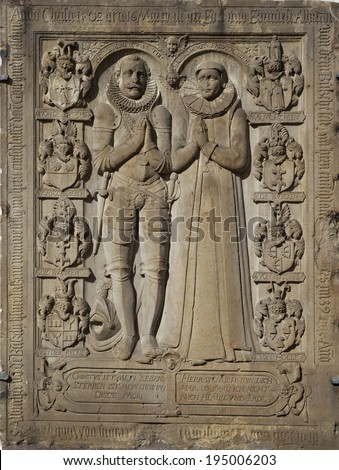Wall detail of St Nikolai church in Germany