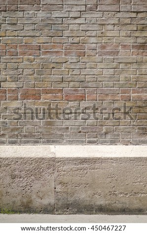 Wall made with bricks on parisian buildings.