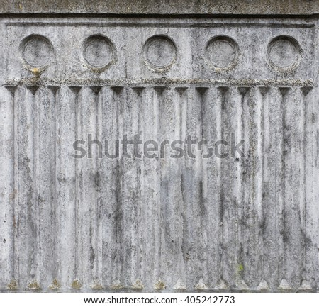 vertical wall carving background basrelief plaster style ancient greek stock