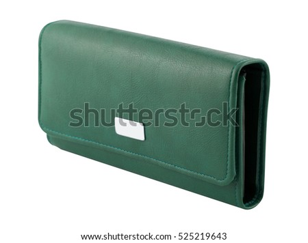 wallet isolated on the white background
