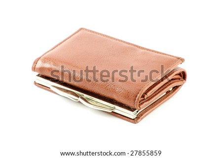 wallet over white background