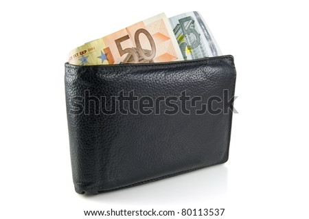 Wallet with euro, path added