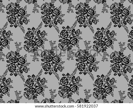 Seamless black vector lace pattern stock vector 593401379 for Floral pattern wall to wall carpet