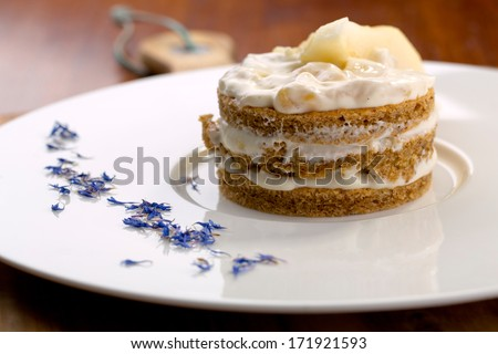 Banana Walnut Decorated Cake