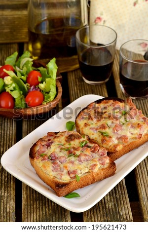 Fresh Italian Pizza Smoked Chicken On Stock Photo ...