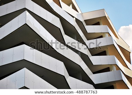 Modern Architecture Featuring Spare Lines Sharp Stock Photo 3549111 Shutter