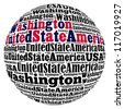 Washington capital city of United State of America info-text graphics and arrangement concept on white background (word cloud) - stock photo