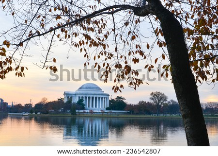 Washington DC, Jefferson Memorial in autumn