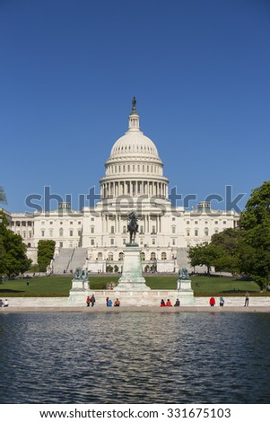 WASHINGTON, DC, USA - MAY 2, 2013: United States Capitol building.