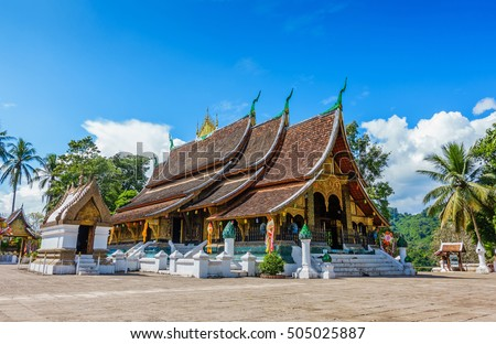 Wat Xieng Thong, The most important buddhist temple in Luang Prabang, Laos. This town was listed as a UNESCO World Heritage Site in 1995.