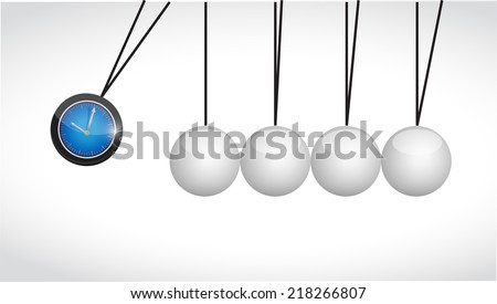watch and spheres illustration design over a white background