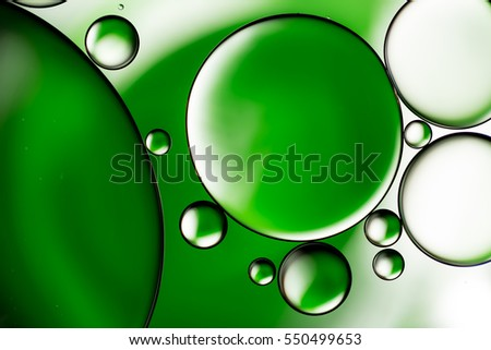 Water bubbles background, green abstract circles
