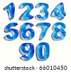 Water drop numbers set, 3d - stock photo