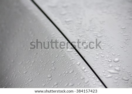 water drops on a car