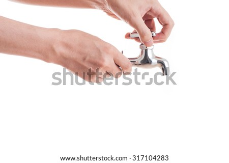 Water faucet, Human Hand