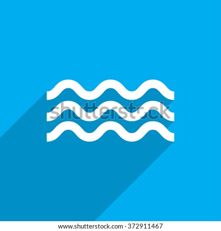 Water flat icon illustration