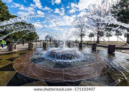 Waterfall Pool Luxury Backyard Tropical Landscaping Stock ...