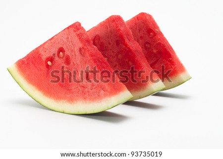 water melon in white back ground
