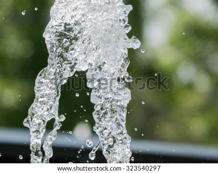 Water splash Background blur