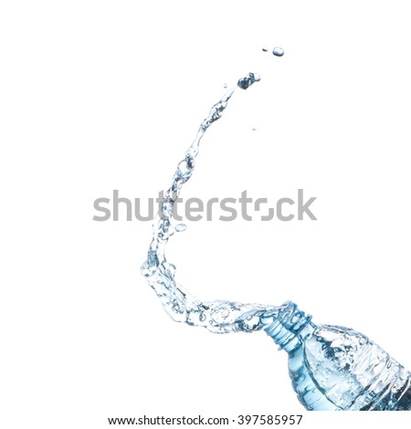 Water splash from bottle