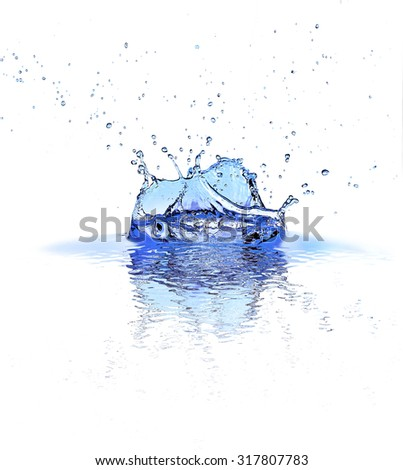 Water splashes isolated on white