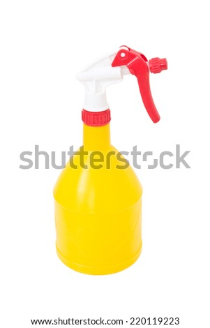 Water Spray Bottle Isolated On White.