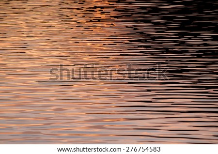 Water Texture Pattern at Sunset on the Atlantic Ocean
