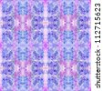 watercolor lilac pattern repetition - stock photo