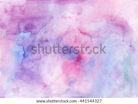 Watercolor pink violet abstract background