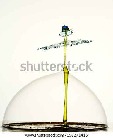 Standing Peg Hat Open Umbrella Stock Photo 138802514