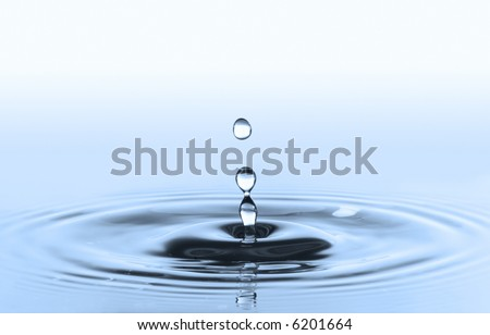 waterdrops isolated in blue background