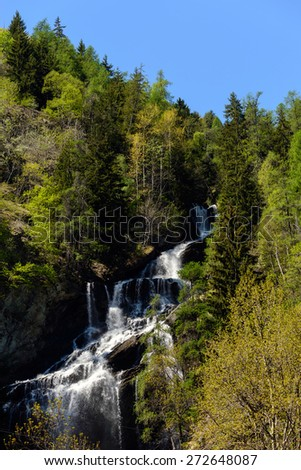 Waterfall in Aosta Valley - North Italy
