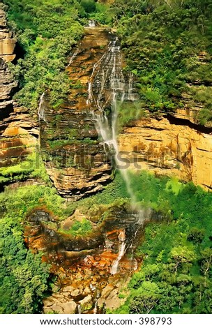 Waterfall in blue mountain, Australia