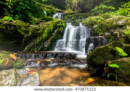 Waterfall in summer forest at Kao-Ta-Klub Nationnal pack in Sa Kaeo; Thailand