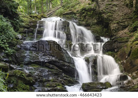 Waterfall in the Ukrainian Carpathians