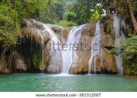 Waterfall somewhere in Thailand. Almost nobody know it, But it's very beautiful and amazing.