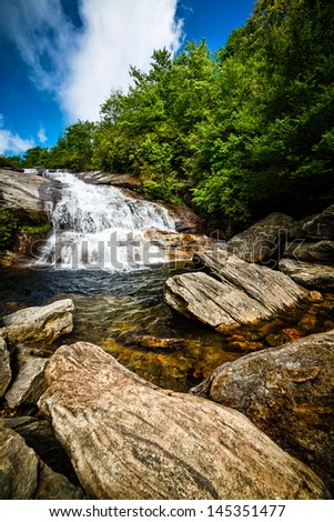 Waterfalls at Graveyard Fields North Carolina Blue Ridge Parkway