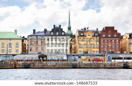 Waterfront in Stockholm, Sweden
