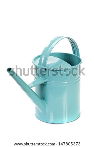 Watering can isolated over a white background