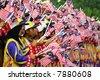 Waving Malaysia's flags. - stock photo