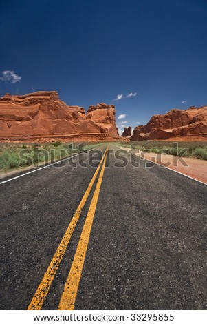 Way to Arches National Park