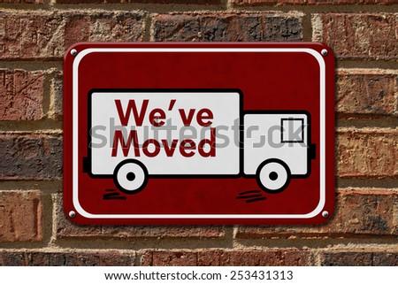 We Have Moved Sign Teal Sign Stock Illustration 249110206 ...