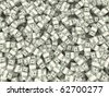 Wealth. Background from packs of dollar. 3d - stock photo