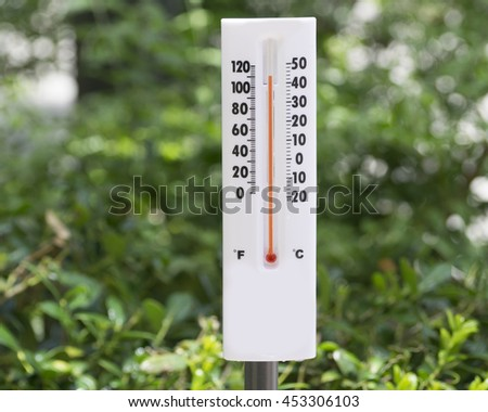 Weather Instrument responding to current conditions/Climate Change/Thermometer gives indicates heat in the atmosphere.